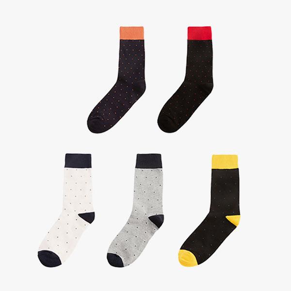 포인트 도트 패턴양말 옐로우 블랙 / 스튜디오뎁 클래식 남자패션정장 스트릿 브랜드양말
