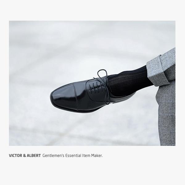 프리미엄 블랙 립 / 남자 실켓 정장 양말